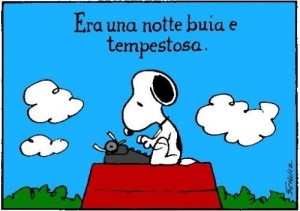 Snoopy scrittore (Peanuts, Schulz)